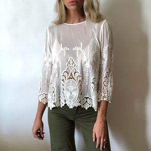 {Dolce Vita} silk blend lace blouse